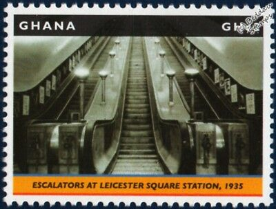 London Underground: 1935 LEICESTER SQUARE Tube Station Stamp (2013 Ghana)