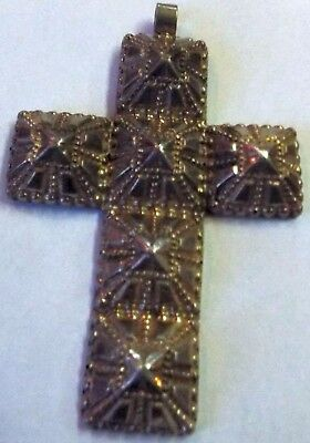 antique Tribal Silver Hand Made Cross Pendant