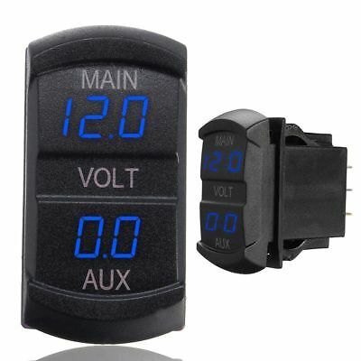 LED Digitalanzeige Doppel- Voltmeter Spannung Anzeige Batterie Display PKW Boot