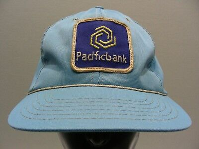 Pacific Bank - Vintage - One Size - Adjustable Snapback Ball Cap Hat!