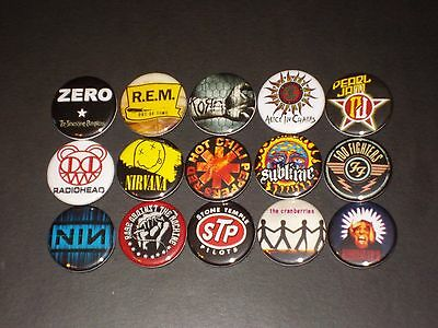 90's Bands Buttons Badges  Pins 15