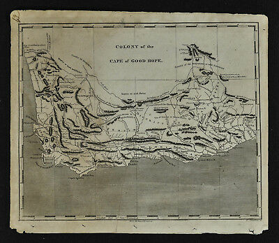 1804 Arrowsmith Map - Cape of Good Hope - Cape Colony South Africa Capetown