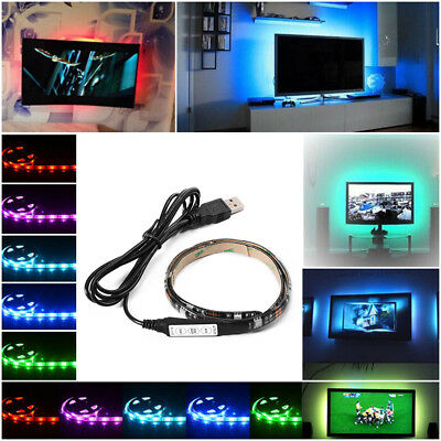Striscia led usb 2x50cm strip striscia luce per tv smart for Luce led striscia