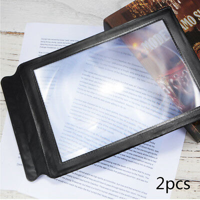 2pcs Magnifying Full Page 3X Magnifier A4 Sheet Magnification Reading Aid FA320