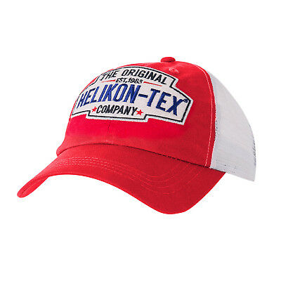 Helikon Tex Trucker Old School Logo Cap - Cotton Twill - Red Mütze