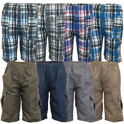Boys Cargo Combat Shorts Kids Knee Length Children Sports Fashion Casual Summer