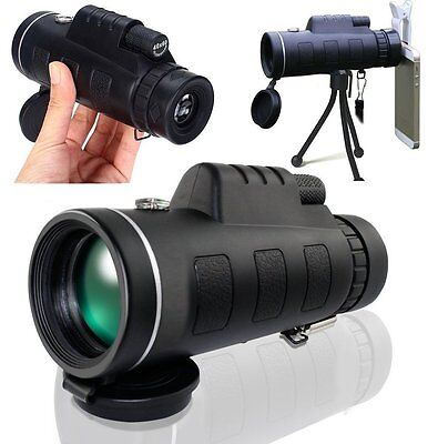 40X60 3st Portable HD Optical Prism Monocular Telescope Free Tripod Outdoor Gift