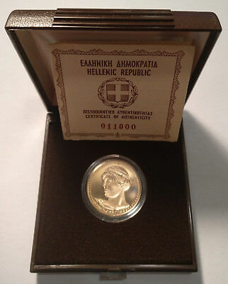 "GREECE / 1984 5000 Gold Drachmai ""XXIII Olympic Games Los Angeles"" Proof !!"