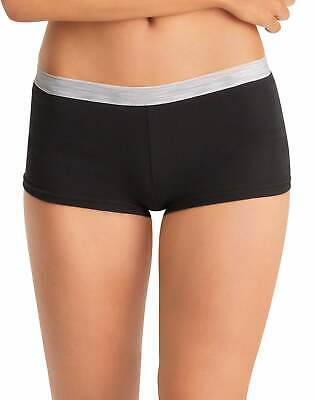 Hanes Women's Boy Brief Panties Cotton 6-Pack Sporty Assorted Colors Size 5-9