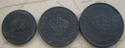 3Coins Romania 2,5,20Lei Wwii 1941-43 T36