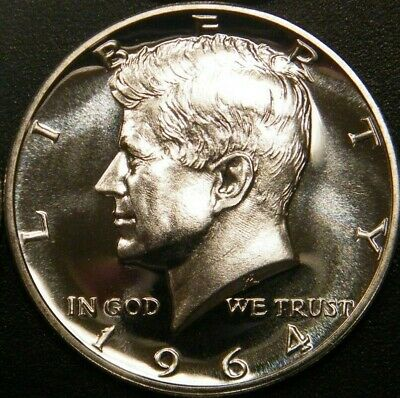 1964 Kennedy Half Dollar Gem 90% Silver Proof Coin from US proof set