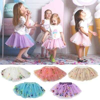 Cute Baby Girl Princess Tulle Dress Fluffy Skirt With Pom Pom Puff Ball UK