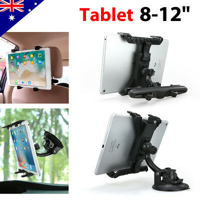 Universal 360°Car Seat Headrest Holder Windshield Mount iPad Samsung Tablet 8-12