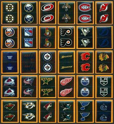$1.99 each NHL 2012-13 Foil Logo All Teams /30 Panini Hockey Sticker Singles