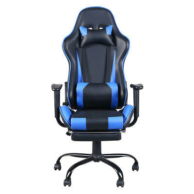Gaming Chair High-back Computer Office Chair Swivel Racing Chair Black & Blue