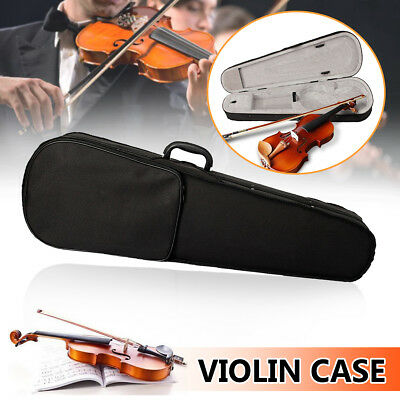 Portable Professional 4/4 Violin Case Bag Fit Student Cloth Fluff Black Triangle