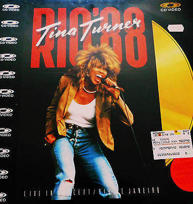 Tina Turner - Rio '88 - U.K. Laser Disc issue PAL - NEW. 1982 - PAL Music Video