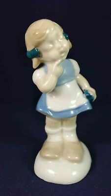 Girl Blue & White Small Figurine