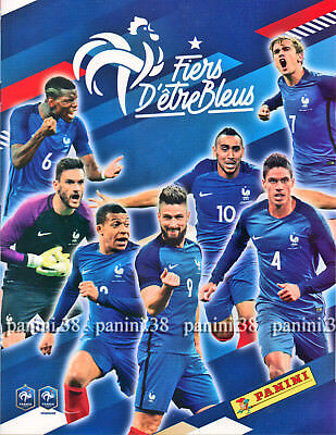 "RARE !! Album Empty + Complete Set "" WC FRANCE 2018 FIERS D'ETRE BLEUS"" PANINI"