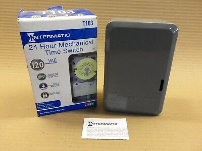 New in Box Intermatic 24 Hour Mechanical Time Switch T103