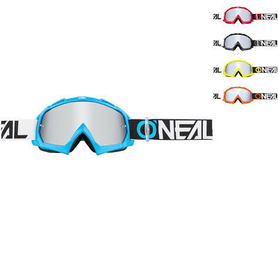 Oneal B-10 Two Face Mirror Silver Motocross Goggles MX Protection Off Road Dirt
