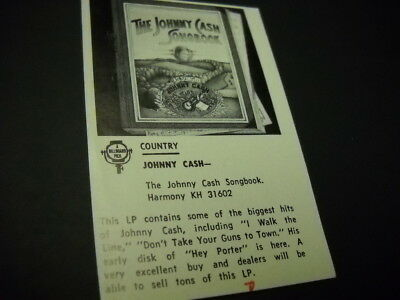 JOHNNY CASH original rare 1972 music media promo lp review J.C. SONGBOOK