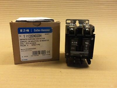 New in Box Eaton Cutler Hammer C25DND225H Definite Purpose Contactor