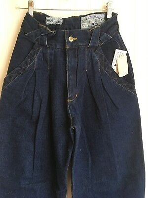 NWT True Vintage 1980's CODE ZERO Denim PLEATED JEANS High Waisted 28 x 32 BAGGY