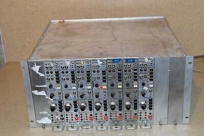 Vishay Measurement Groups 2310A Signal Conditioning Amp Lot Of 7 & Chassis (Vy3)