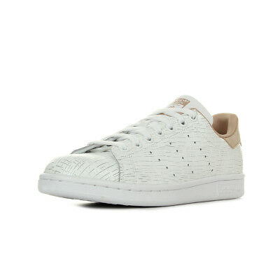 san francisco 90aad 42f4b Chaussures Baskets adidas femme Stan Smith W taille Blanc Blanche Cuir  Lacets