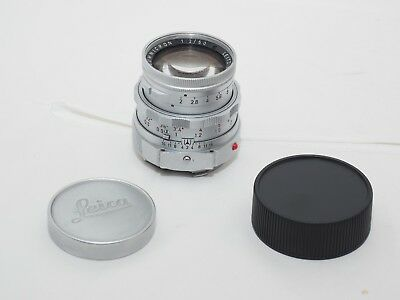 Leica M3 Summicron 50mm f2 Dual Range lens. Many coating marks & scratches AS-IS