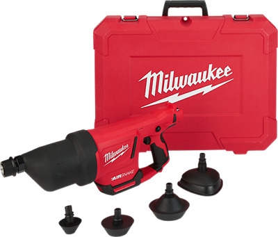 New Milwaukee 2572A-20 M12 Airsnake Drain Cleaning Air Gun Tool & Case Sale