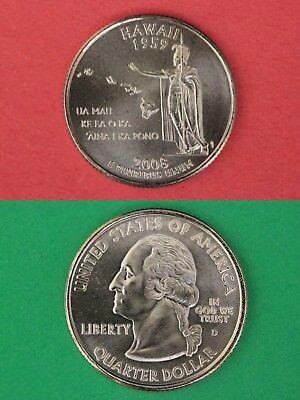2008 D Hawaii State Quarter From Uncirculated Mint Sets Combined Shipping