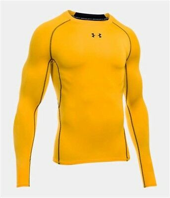 Under Armour HeatGear Compression LS - Men's Large - Steeltown Gold - NEW