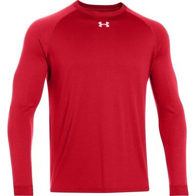Under Armour Team Locker Tee LS - Men's Small - Red - NEW