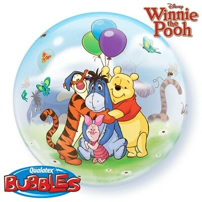Qualatex 22 Inch Single Bubble Balloon - Winnie The Pooh - Party Decoration