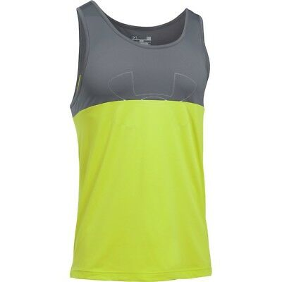 Under Armour Fractal Tank - Men's Large - Tennis Ball Green - NEW