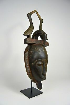 Lovely Vintage Baule Dance mask with Avian finial, African Art