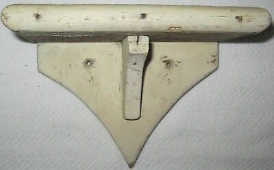 Antique Vintage Small Primitive Off White Painted Wall Shelf