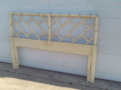 Vintage Mid Century Chinese Chippendale Queen Size Headboard