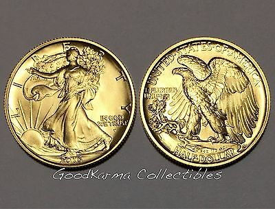 2016 Walking Liberty Half Dollar Centennial 9999 Gold Coin OGP USA