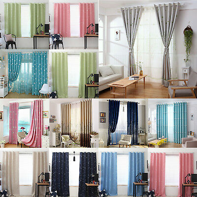 Stars Blackout Curtain Bedroom Window Blind Shading Screen Drapes Home Curtain
