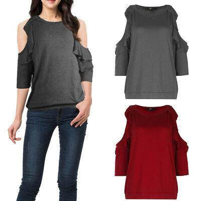ISASSY Women Summer Off Shoulder Top Short Sleeve T-shirt Ladies Casual Blouse