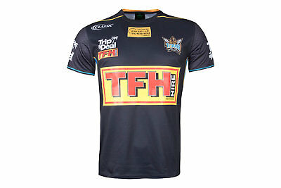 Classic Sportswear Mens Gold Coast Titans 2018 NRL Players Rugby T-Shirt Grey