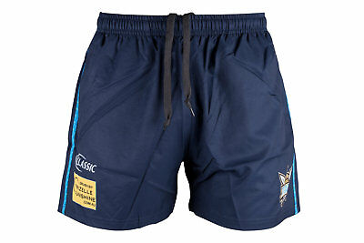 Classic Sportswear Mens Gold Coast Titans 2018 NRL Rugby Training Shorts Navy