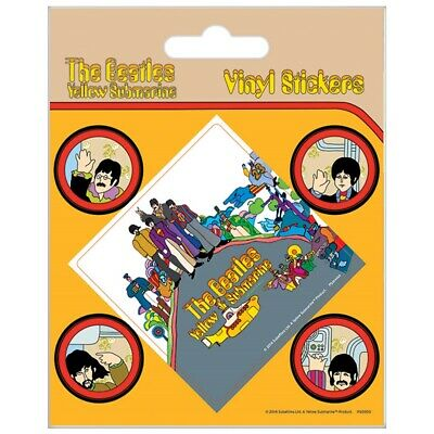 Beatles Yellow Submarine Set Of 5 Vinyl Stickers (py) - Official Licensed