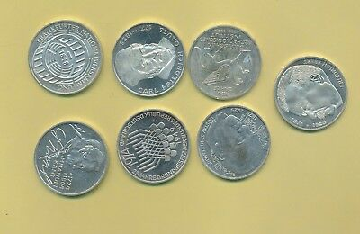 Germany - Silver 5 Marks Lot -  7 Different Dates & Types
