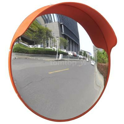 Wide Angle Convex Traffic Mirror PC Orange Outdoor Road Driveway Security R5P9