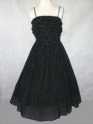 Beautiful vintage Laura Ashley polkadot dress size 10 8 6