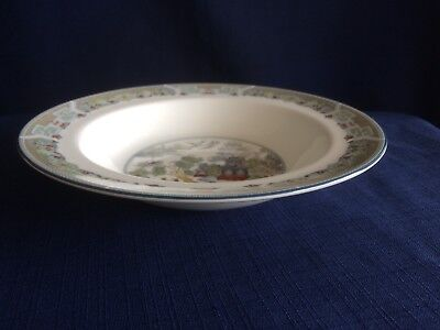 """Wedgwood Chinese Legend 8"""" rimmed soup bowl"""